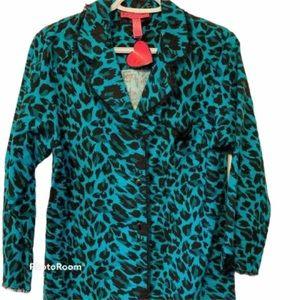 Betsey Johnson Flannel Pajama Long Shirt Medium